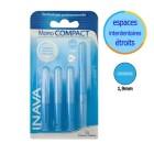 Inava spazzole interamente mm 1,9 Compact Mono stretta 4 ricariche